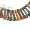 ponte rustica com pingos de cor. toca.do.Furão