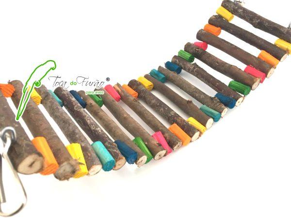 ponte rustica com pingos de cor. toca.do.Furão.2