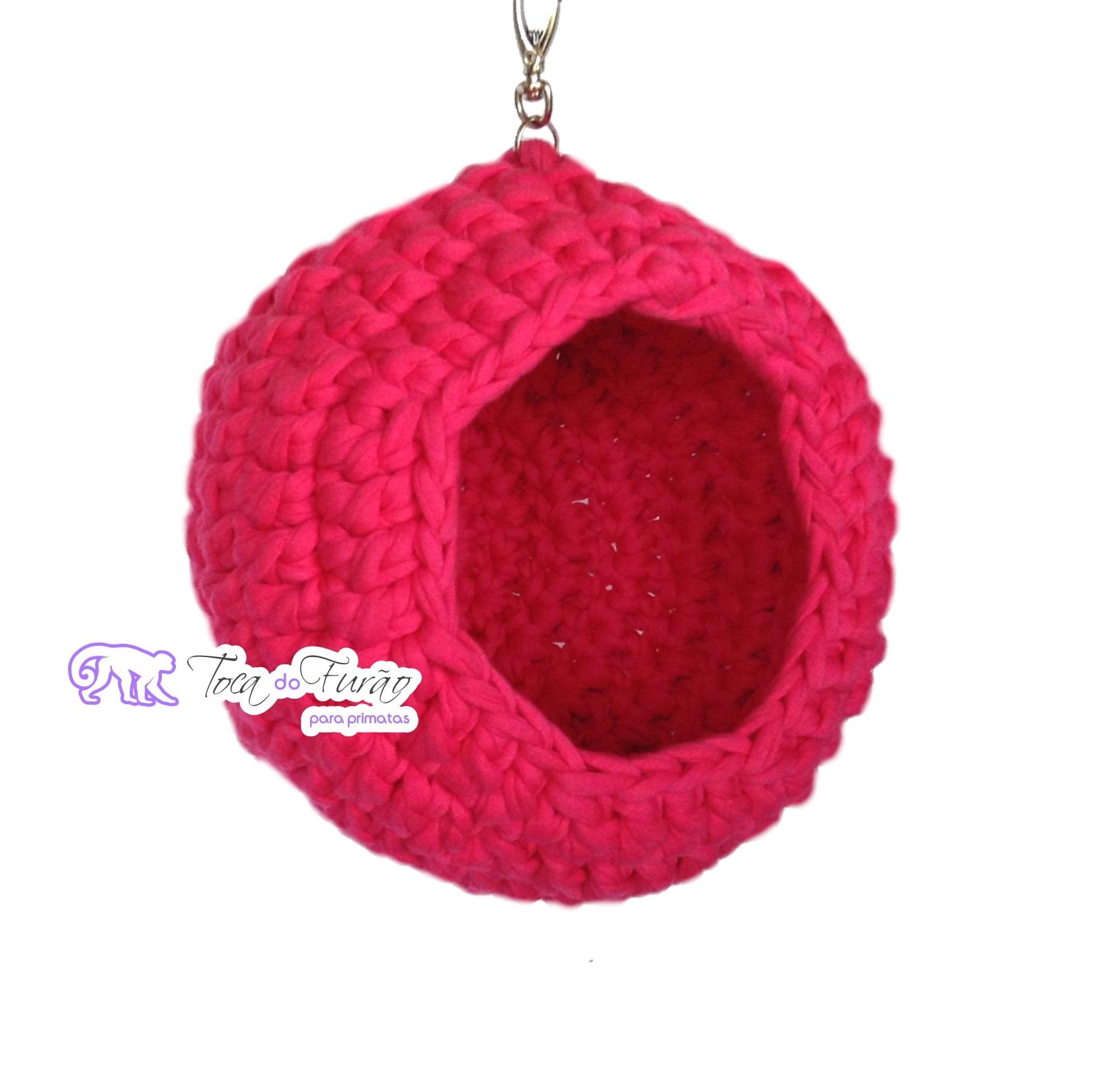70b8a9c290c55 Bola color de crochê para sagui – Toca do Furão