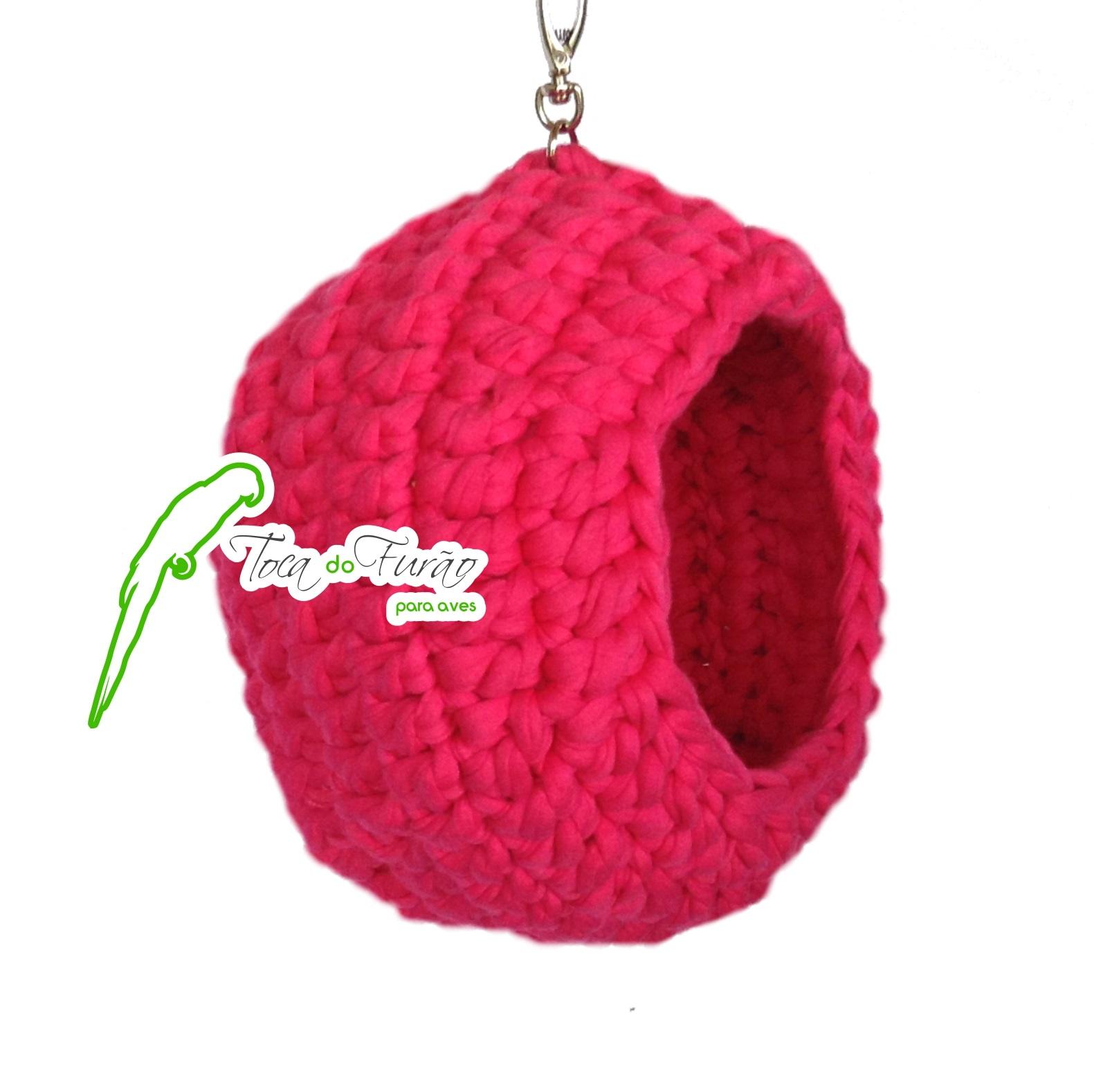 9b75c297aaa85 Bola color de crochê para aves – Toca do Furão